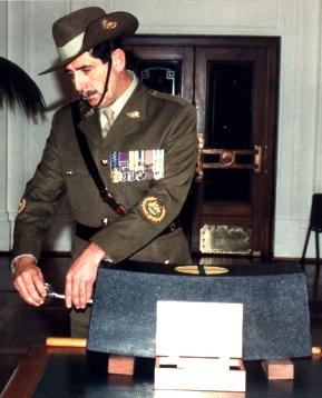 The RSM of the Army secure the Roll of Honour